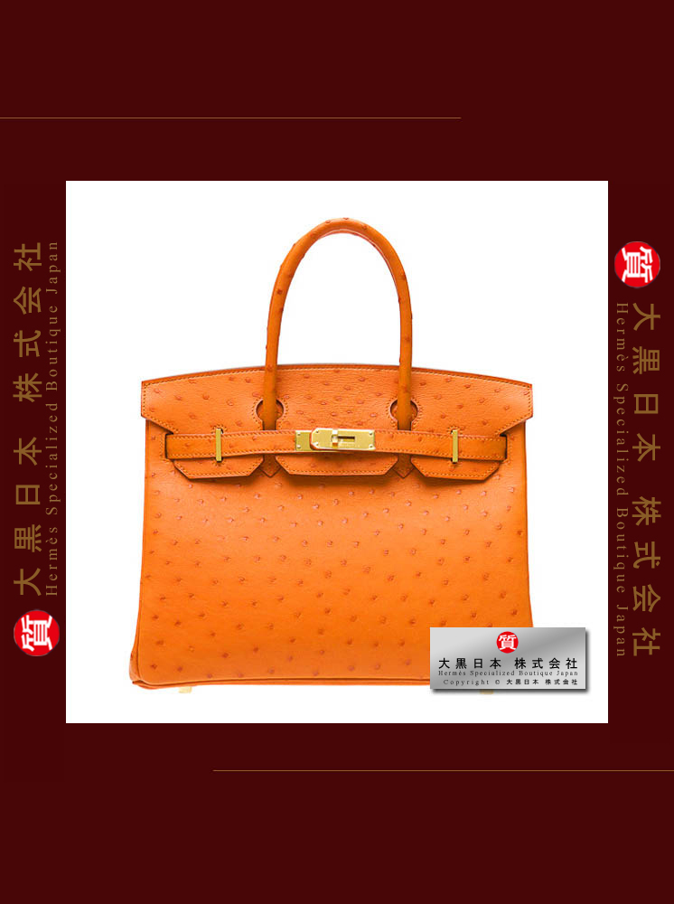 7f5912fc7603 HERMES BIRKIN 30 (Pre-Owned) – Tangerine orange